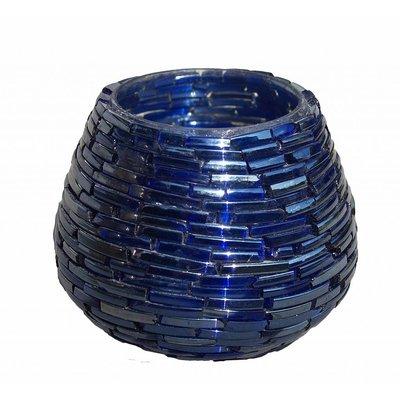 Waxinehouder blue dark