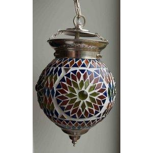 Hanglamp multi color turkisch design mozaïek small