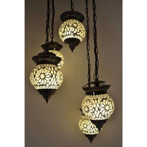 5 bol hanglamp transparant