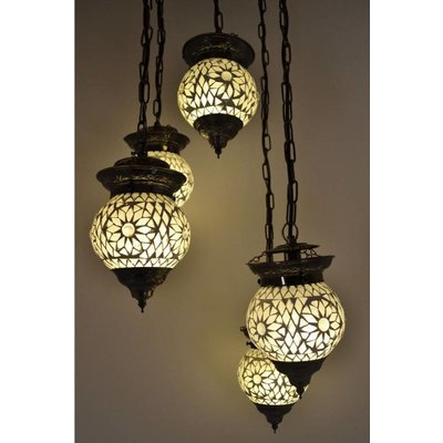 5 bol hanglamp transparant turkisch design