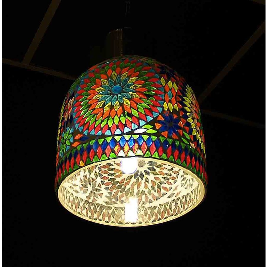 Stoere hanglamp mozaïek multi colour turkisch design