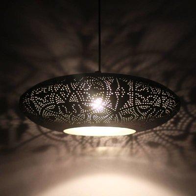 Filigrain hanglamp met zilver