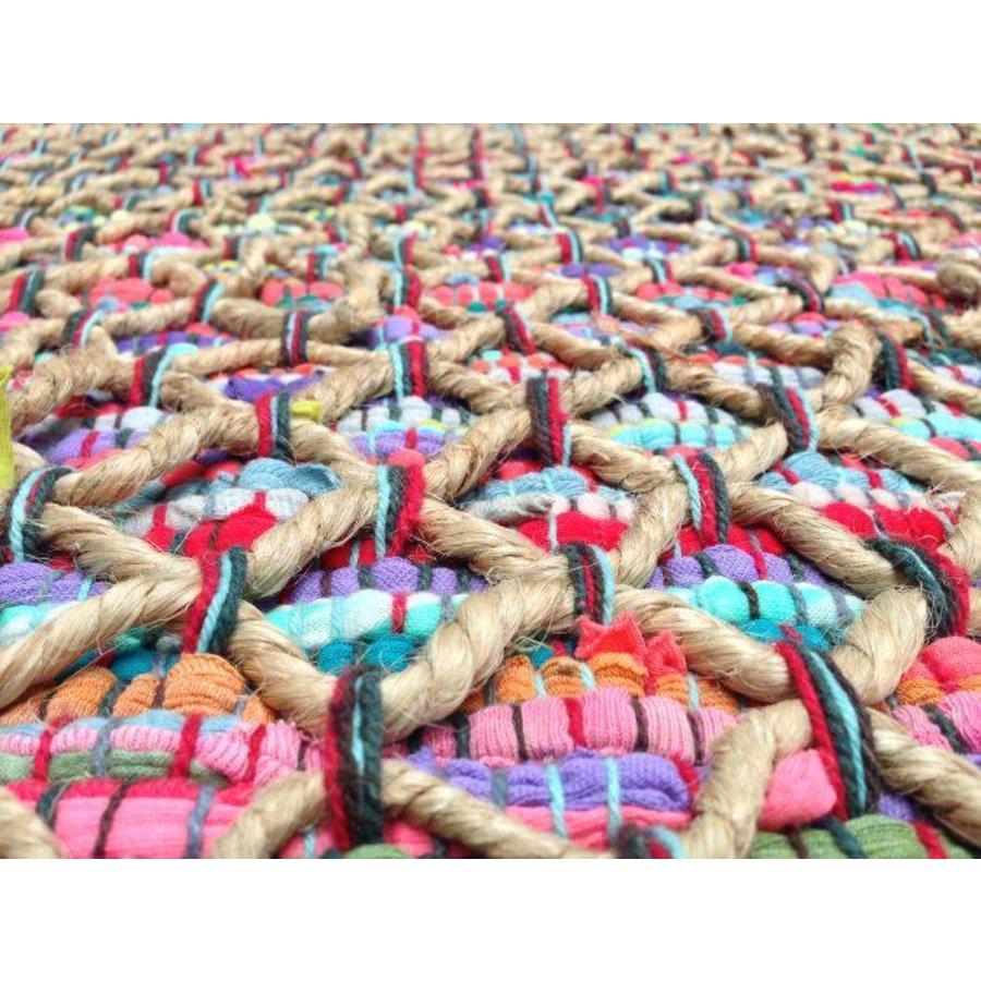 Ibiza colored vloerkleed 80 x 140 cm