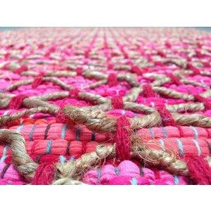 Roze vloerkleed 80 x 140 cm