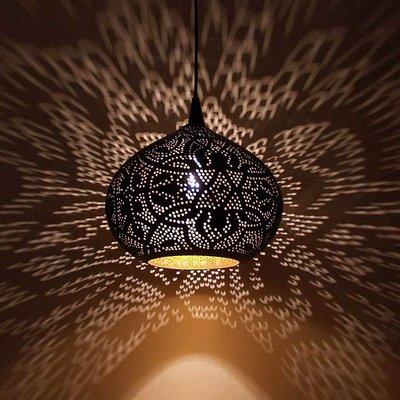 Filigrain hanglamp met goud