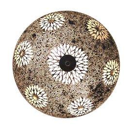 Witte glas kraaltjes  mozaiek plafonniere
