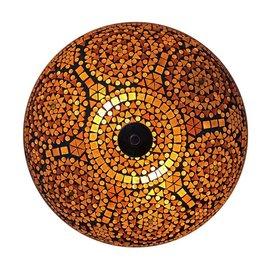 Bruine mozaiek plafonniere