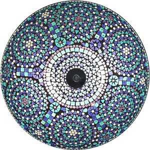 Plafonnière met kleurrijke blauwe bloemen