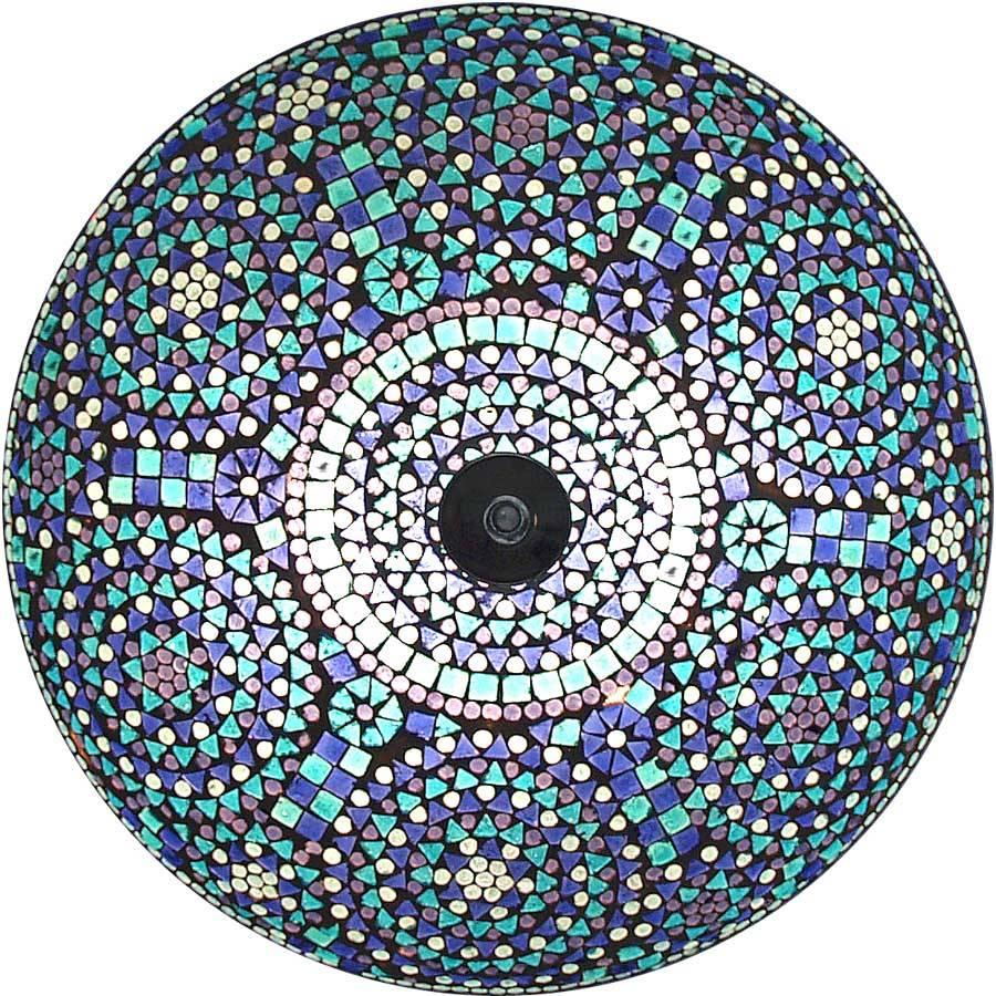 Plafonni 232 Re Met Kleurrijke Blauwe Bloemen