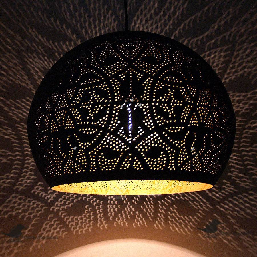 Home - Filigrain hanglamp met goud