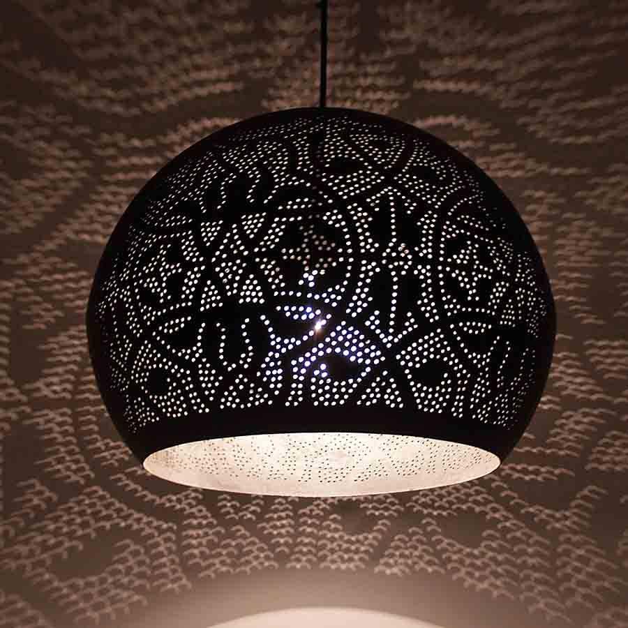 Home - Filigrian ronde bol hanglamp met zilver
