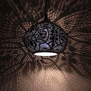 Hanglamp filigrain zilver