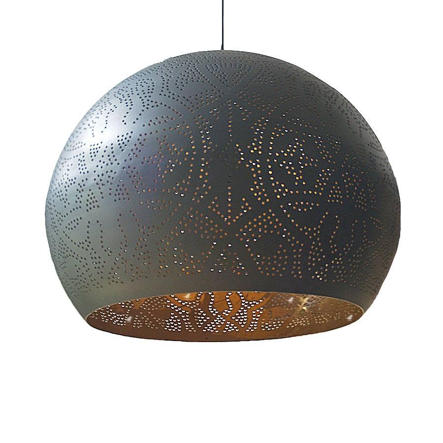 Filigrian ronde bol hanglamp met zilver -