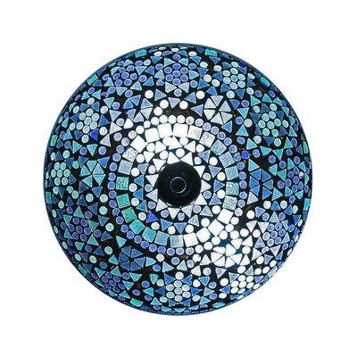 Plafonnière mozaïek traditioneel design met een sprankelend blauw.