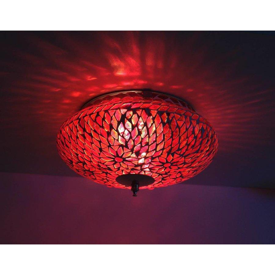 Plafondlamp glasmoza ek rood turkisch design merel in for Design plafondlamp