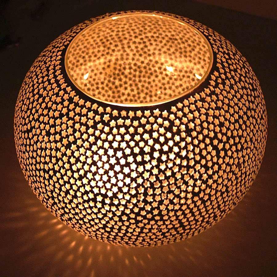 Home - Waxinelicht sterren transparant