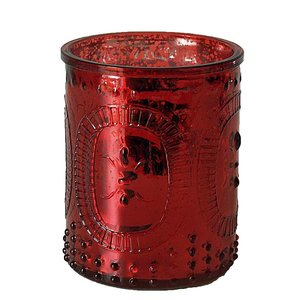 Rode plafonniere en waxinelicht set