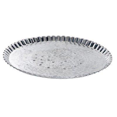 Grote ronde zilveren schaal