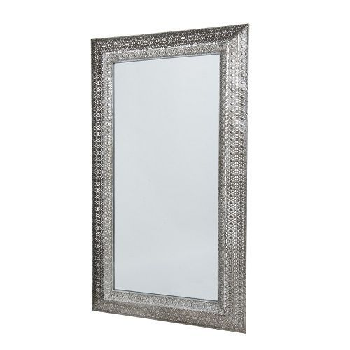 Zilveren spiegel orientaals for Grote zilveren spiegel