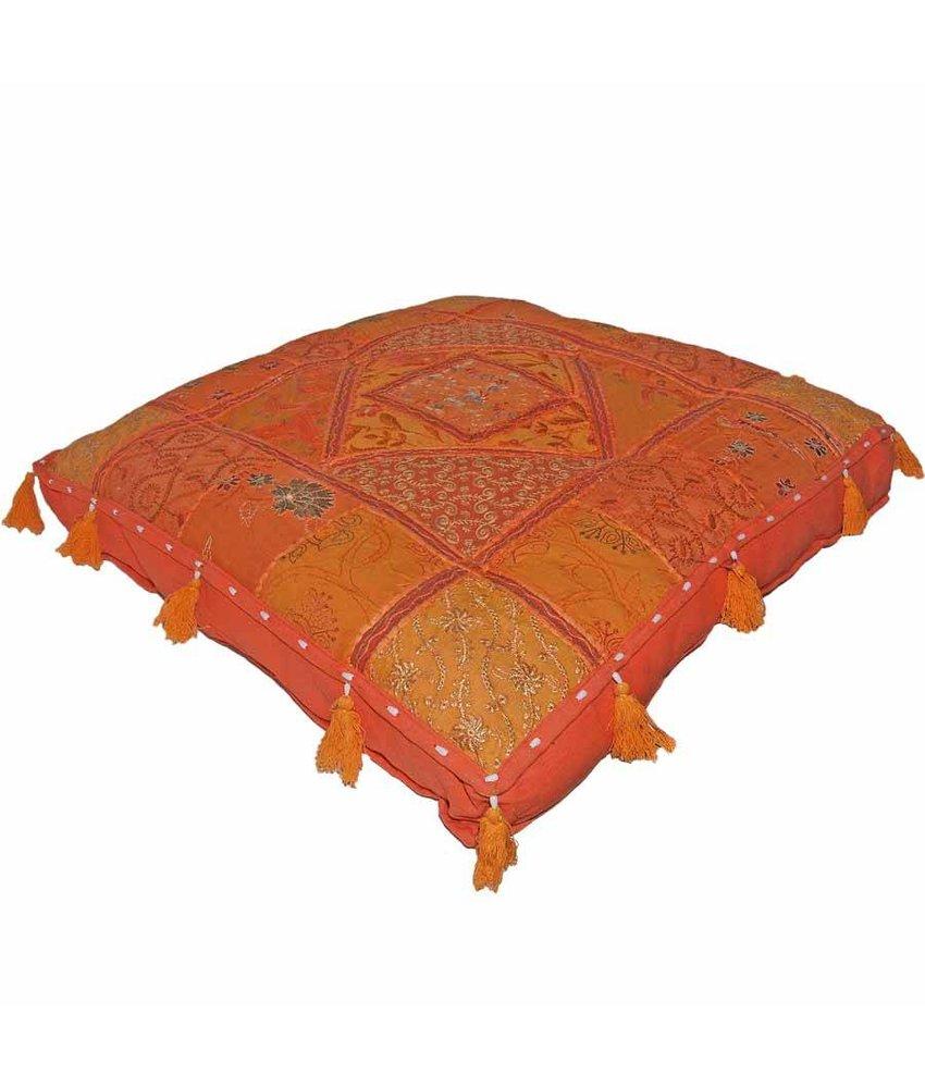 Kussens India patchwork in kleurrijke stoffen -