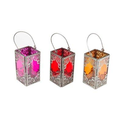 3 gekleurde lantaarns gekleurd glas marrakech