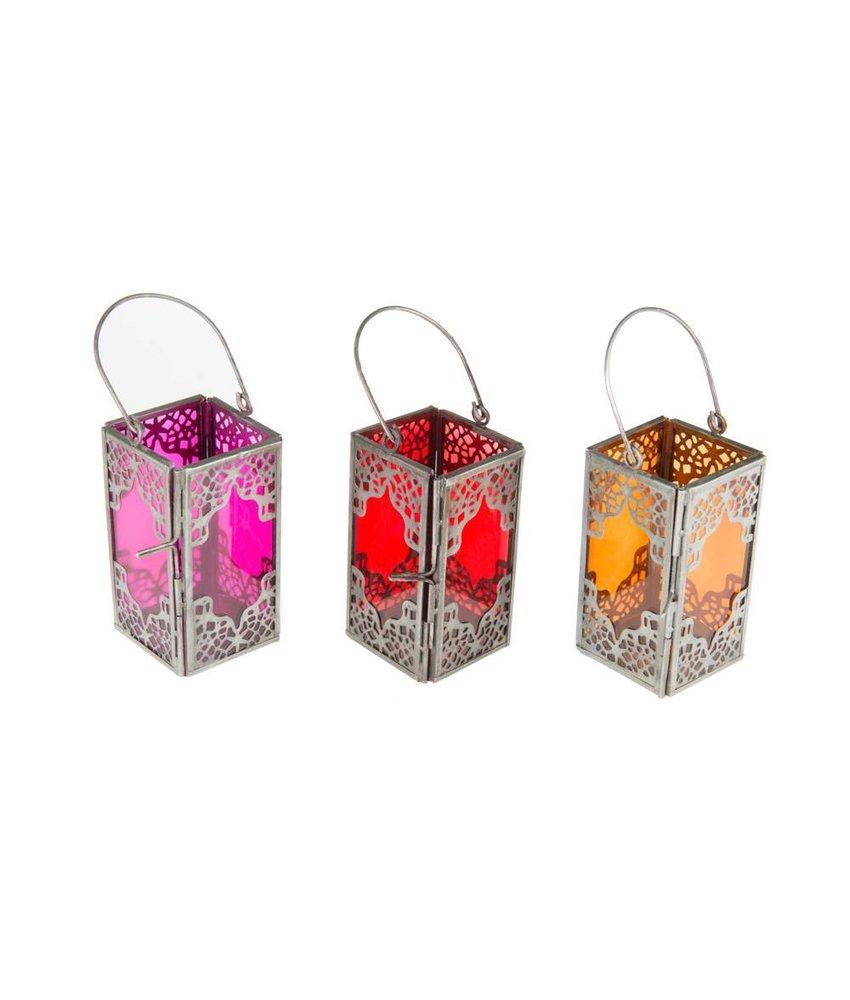 3 gekleurde lantaarns