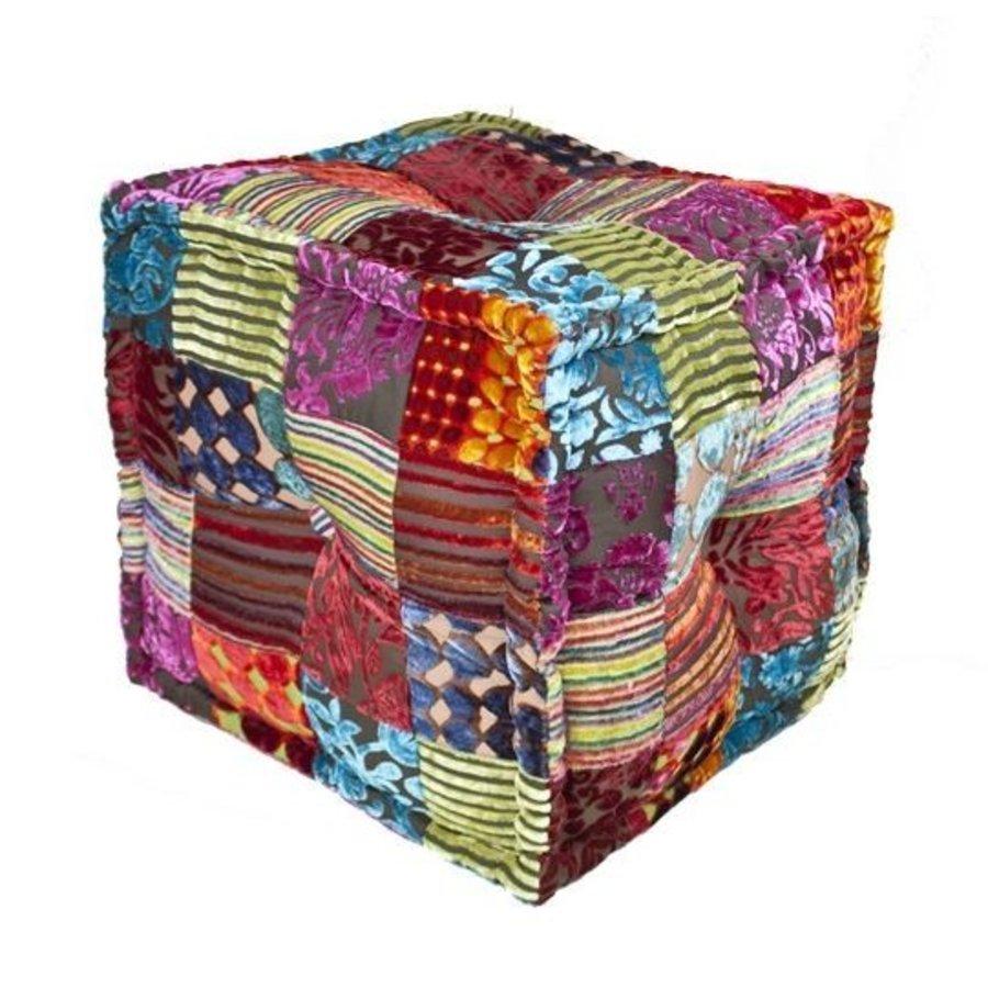 Poef vierkant patchwork