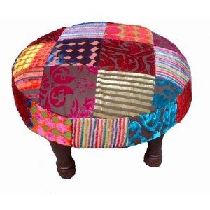 Ronde patchwork kruk