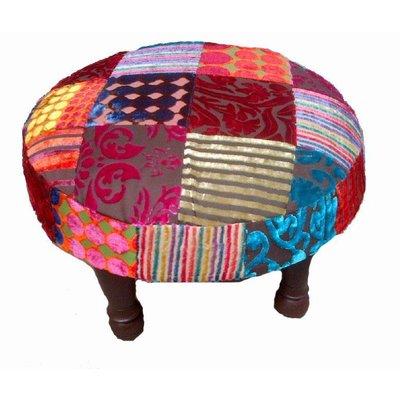 Ronde kleurrijke patchwork kruk