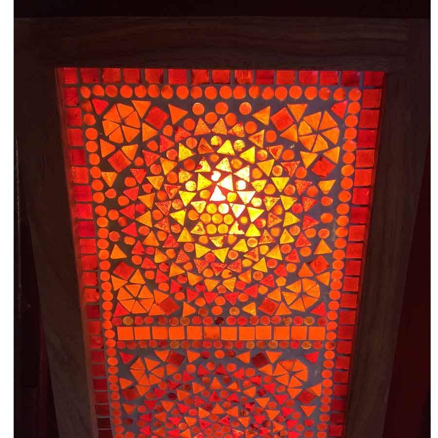 Staande Lamp Moza 239 Ek Rood Oranje Traditioneel Design