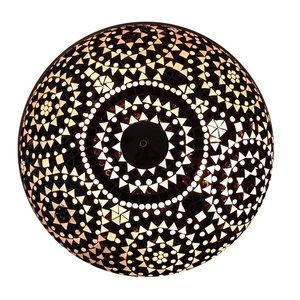 Plafonniere mozaïek zwart wit traditioneel