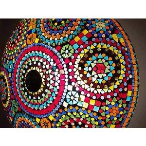 Oosterse Plafonniere mozaïek multicolor traditioneel design