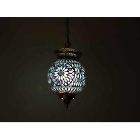 Hanglamp blauw wit