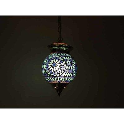 Hanglamp mozaïek blauw wit turkish design