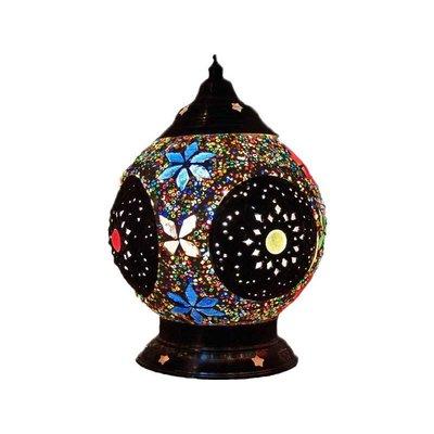 Tafellamp iron kleuren kralen