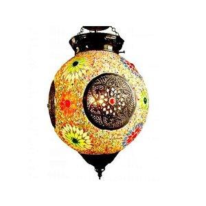 Hanglamp glasmozaïek multicolor metaal kleurrijke lamp