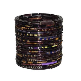 Waxinelicht paarse bangles