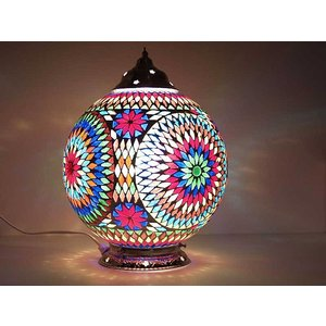 Tafellamp mozaïek turkish design vrolijke lamp