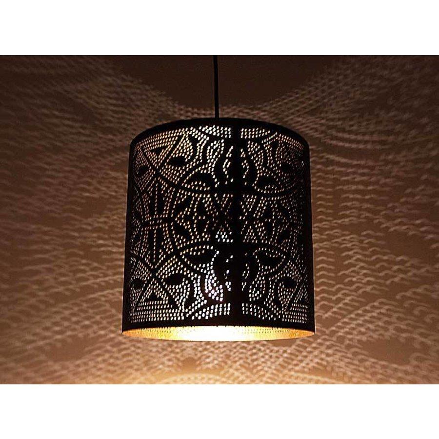 Filigrain cilinderlamp goud
