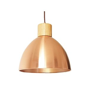 Koperen open hanglamp