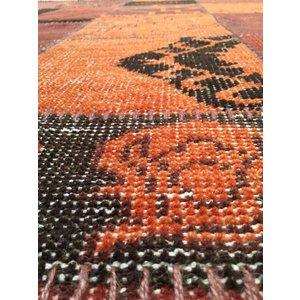Kelim oranje vloerkleed 160 x 230 cm