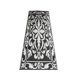 Buitenkleed / balkonkleed zwart wit