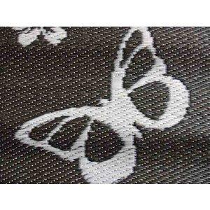 Buitenkleed vlinders zwart wit