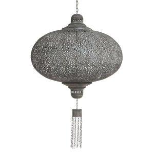 Antique grijze oosterse hanglamp