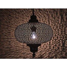 Grijze oosterse hanglamp