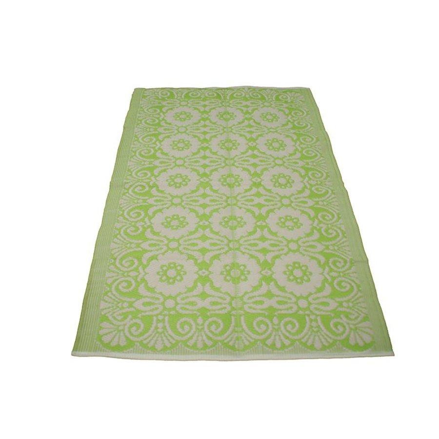 Buitenkleed groen wit