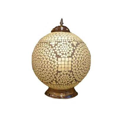 Oosterse tafellamp transparant mozaïek traditioneel design