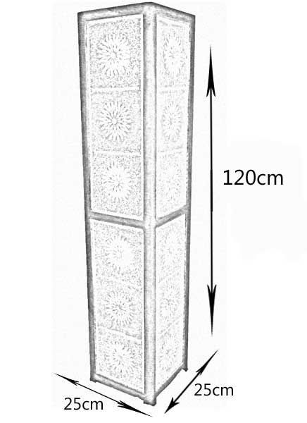 staande lamp zwart wit mozaà ek traditioneel design