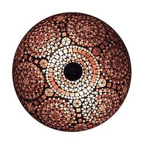 Oosterse plafonniere paars mozaiek