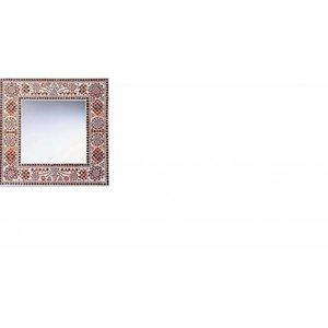 Vierkante spiegel rood oranje